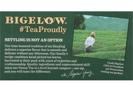 Front of Bigelow Green Tea Classic 20 Count box
