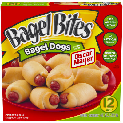 Bagel Bites Bagel Dogs Made with Oscar Mayer 12 count Box