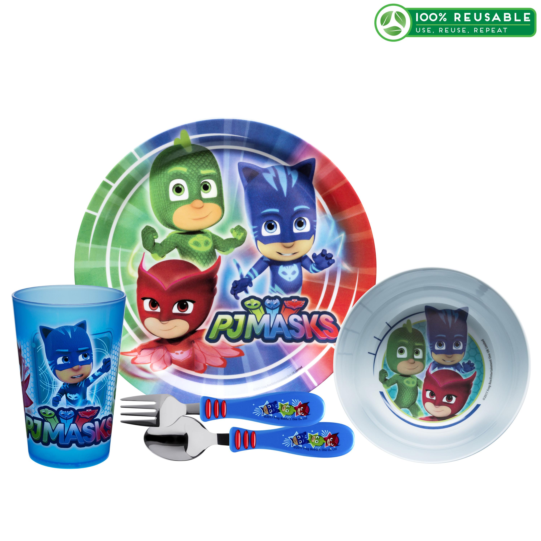 PJ Masks Dinnerware Set, Catboy, Owlette & Gekko, 5-piece set slideshow image 1