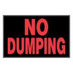"No Dumping Sign (8"" x 12"")"