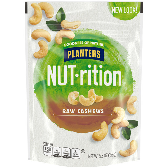 PLANTERS Raw Whole Cashews 5.5 oz Bag image