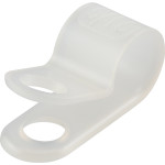 "Natural White Nylon Cable Clamp (3/8"" Wide for 5/16"" Cable)"