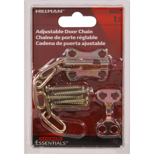 Hardware Essentials Adjustable Door Chain Zinc and Yellow Dichromate