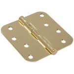 "Hardware Essentials 5/8"" Round Corner Brass Door Hinges (4"")"