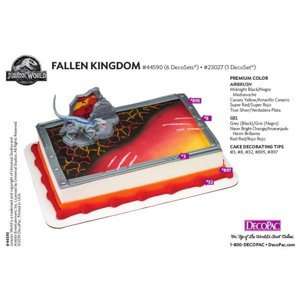 Jurassic World™ Fallen Kingdom Cake Decorating Instruction Card