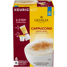 Gevalia Cappuccino Coffee K-Cups Pods with froth Packet, 6 count