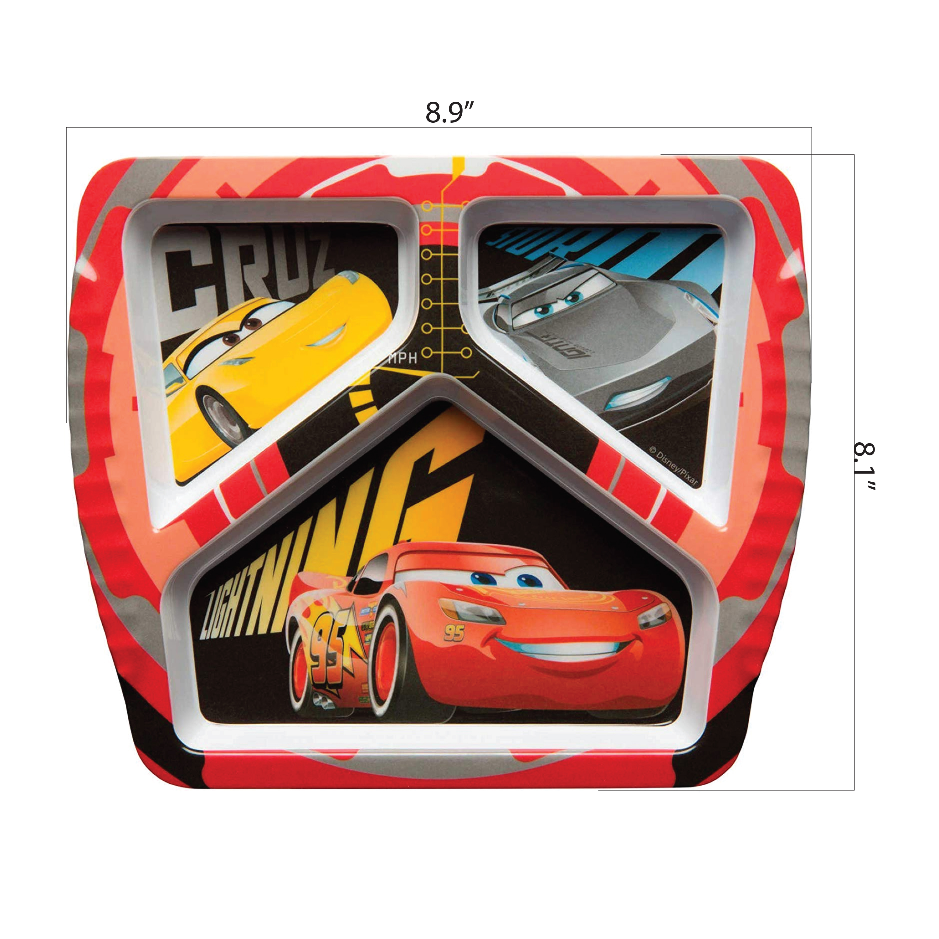 Disney and Pixar Kids Divided Plate, Cars 3 Movie slideshow image 2
