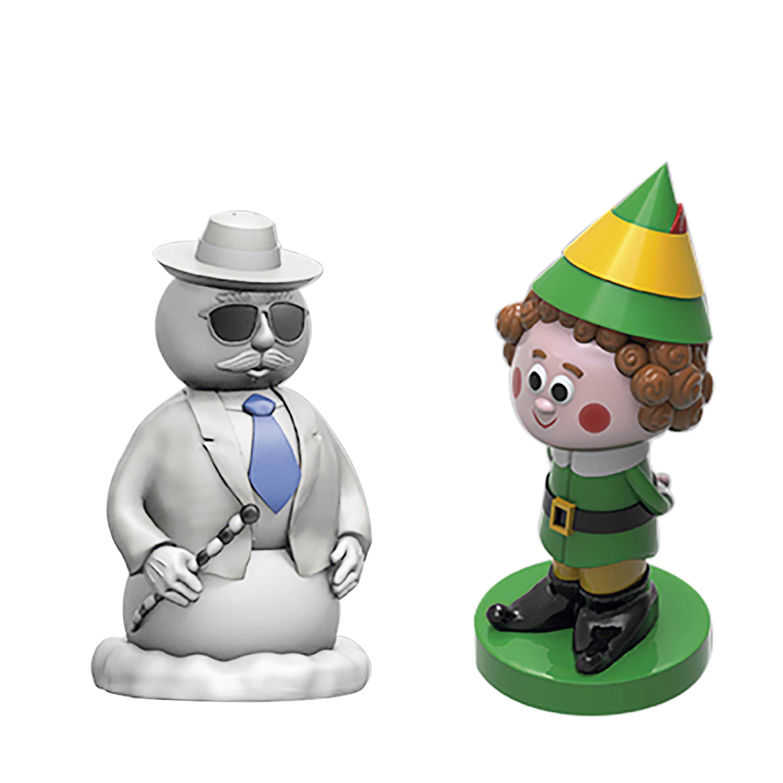 Christmas Collectibles Salt and Pepper Shaker Set, Elf & Snowman, 2-piece set slideshow image 5