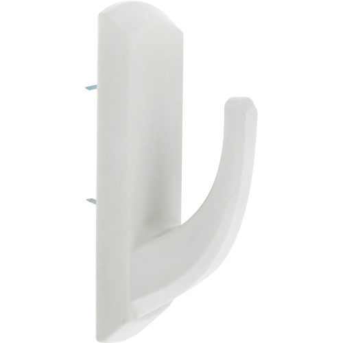 High & Mighty Decorative Hook White Plastic 20lb