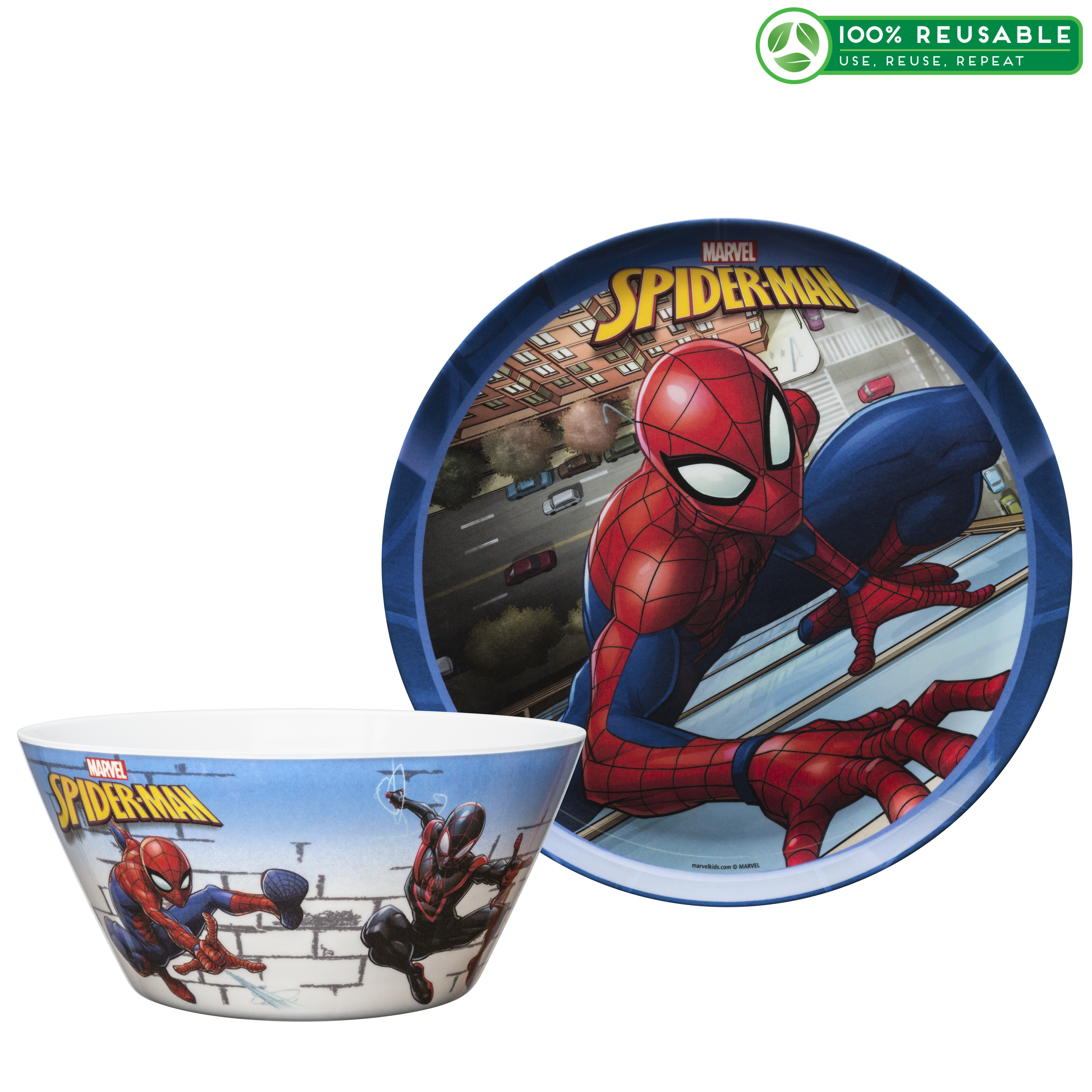 Marvel Comics Dinnerware Set, Spider-Man, 2-piece set slideshow image 1