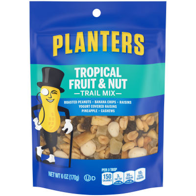 Planters Tropical Fruit & Nut Trail Mix 6 oz Bag
