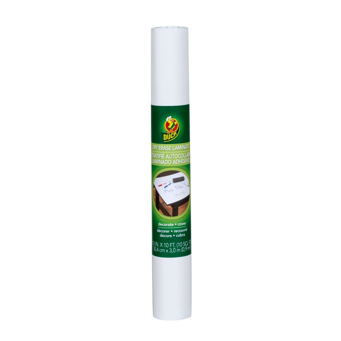 Duck® Brand Deco Adhesive Laminate - Dry Erase, 12 in. x 10 ft. Image
