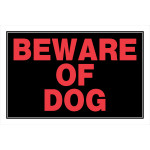Square Beware of Dog Sign