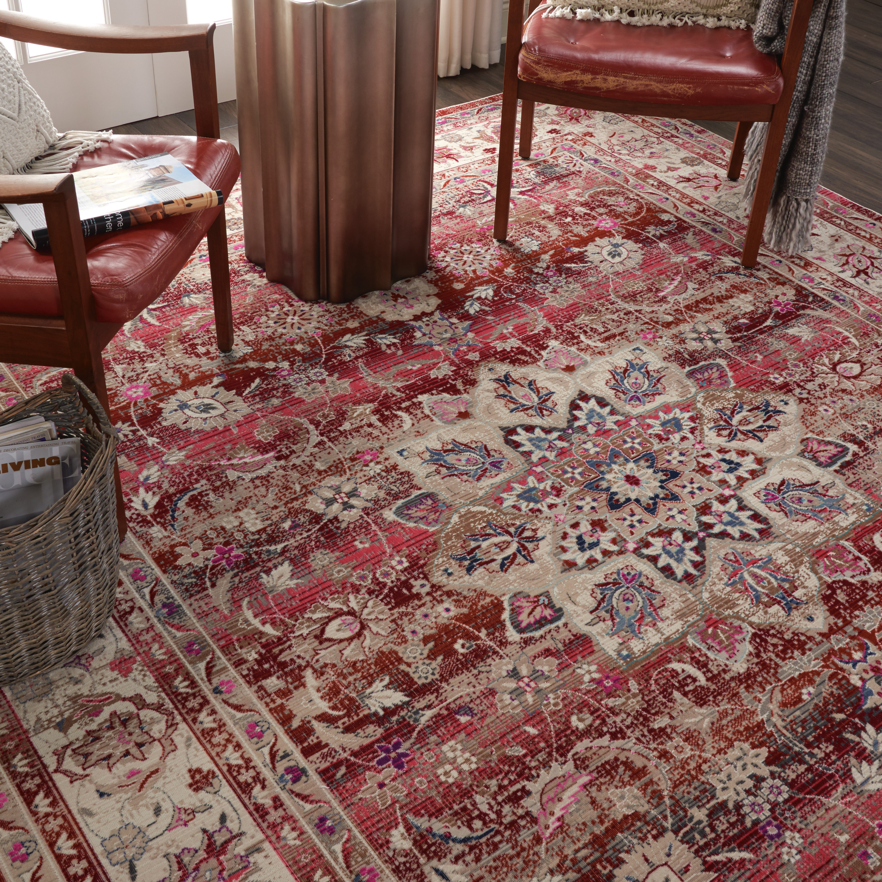 Nourison Vintage Kashan VKA01 Red Rug