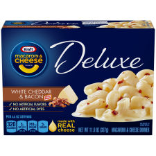 Kraft Deluxe White Cheddar & Bacon Macaroni & Cheese Dinner 11.9 oz Box