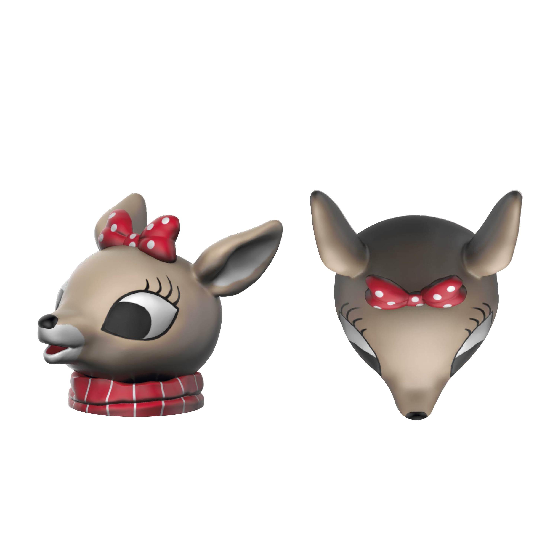 Rudolph the Reindeer Salt and Pepper Shaker Set, Rudolph & Clarice, 2-piece set slideshow image 9
