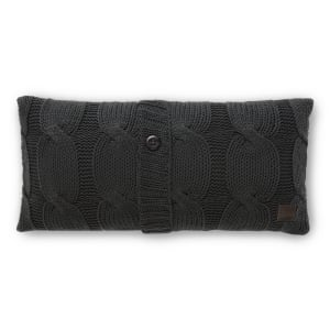 Lodge - Cable-Knit Throw Pillow with Decorative Button