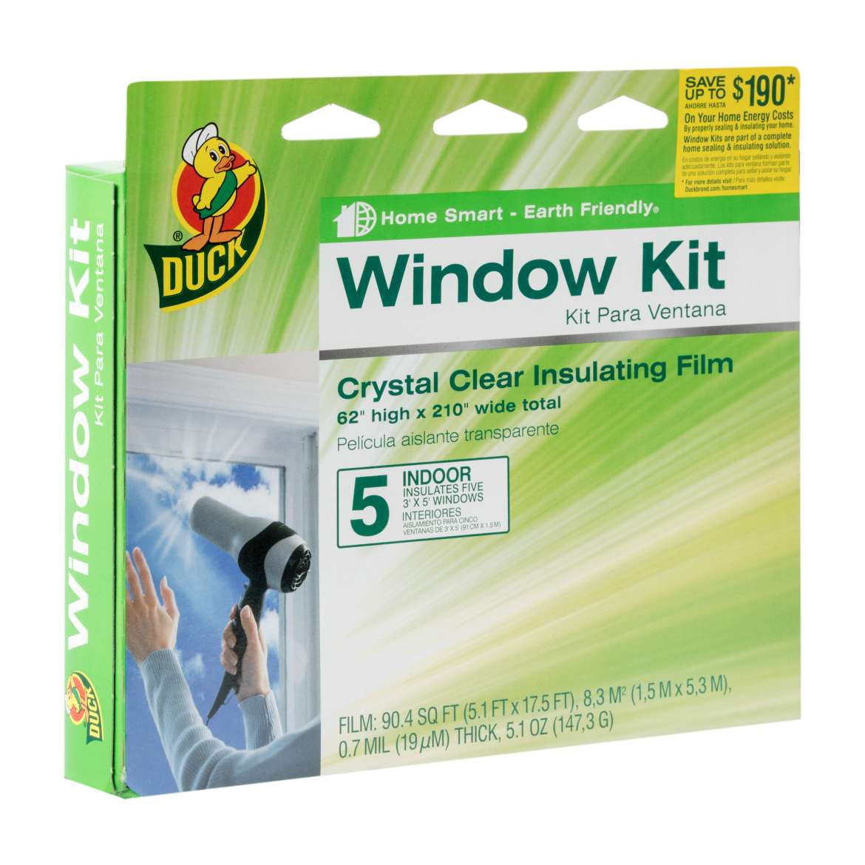 Duck® Brand Shrink Film Window Insulation Kit - Indoor, 5 pk, 62 in. x 210 in. Image