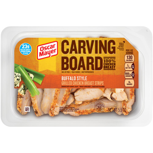 Oscar Mayer Buffalo Grilled Chicken Strips 5.5 oz Tray