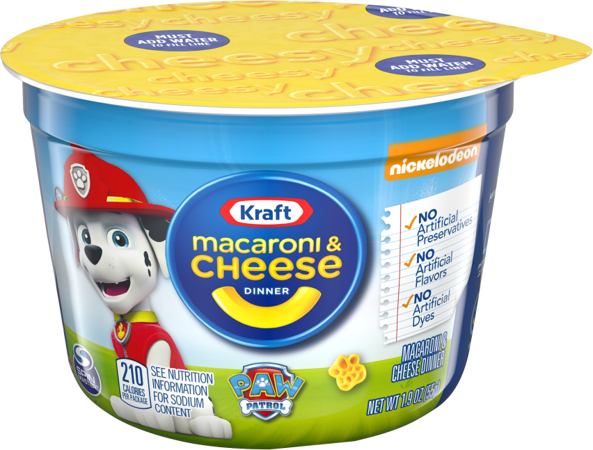 Kraft Easy Mac Paw Patrol Shapes Macaroni & Cheese Dinner 1.9 oz. Microcup