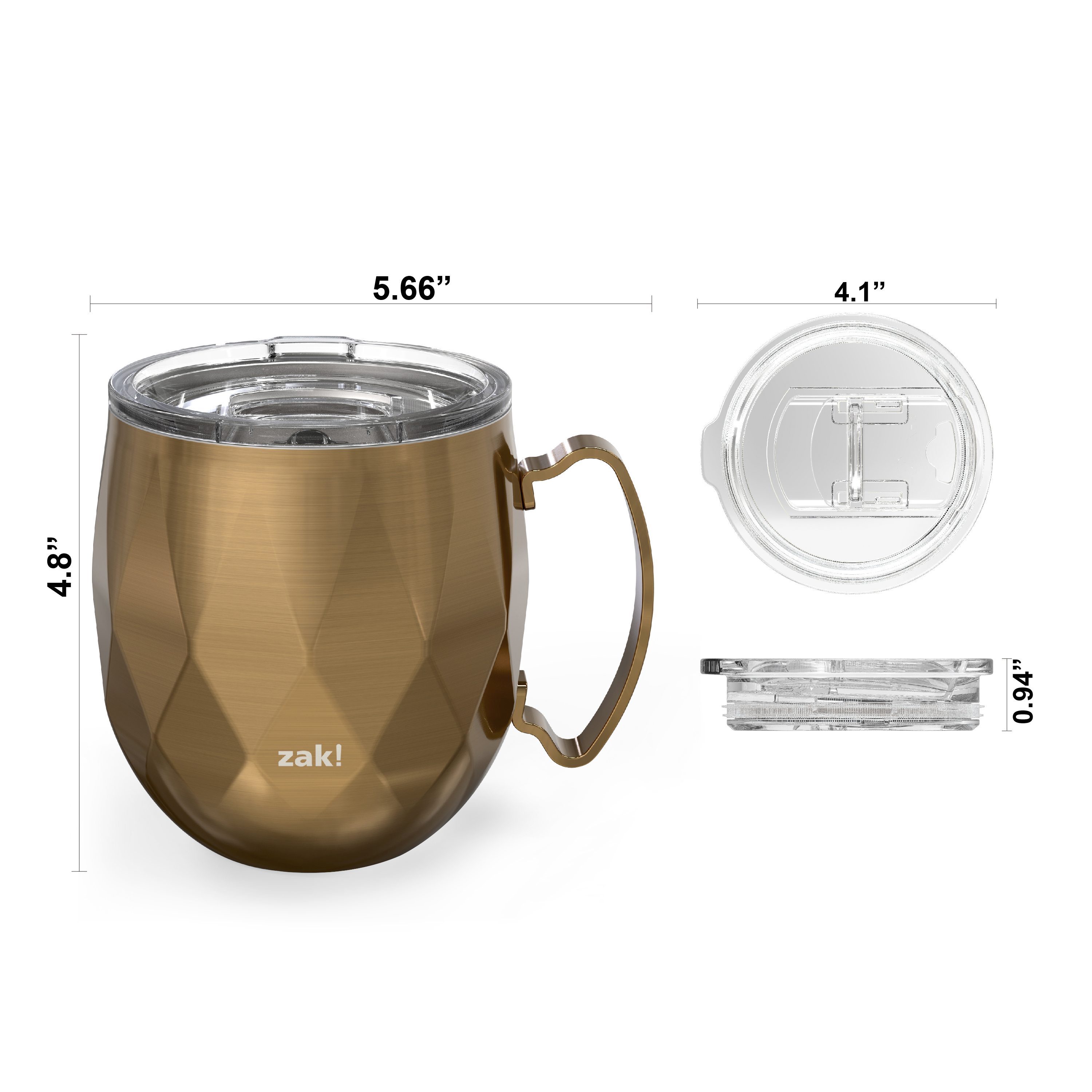 Fractal 19 ounce Vacuum Insulated Stainless Steel Tumbler, Copper slideshow image 5