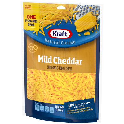 Kraft Mild Cheddar Shredded Natural Cheese 2 - 16 oz Bags