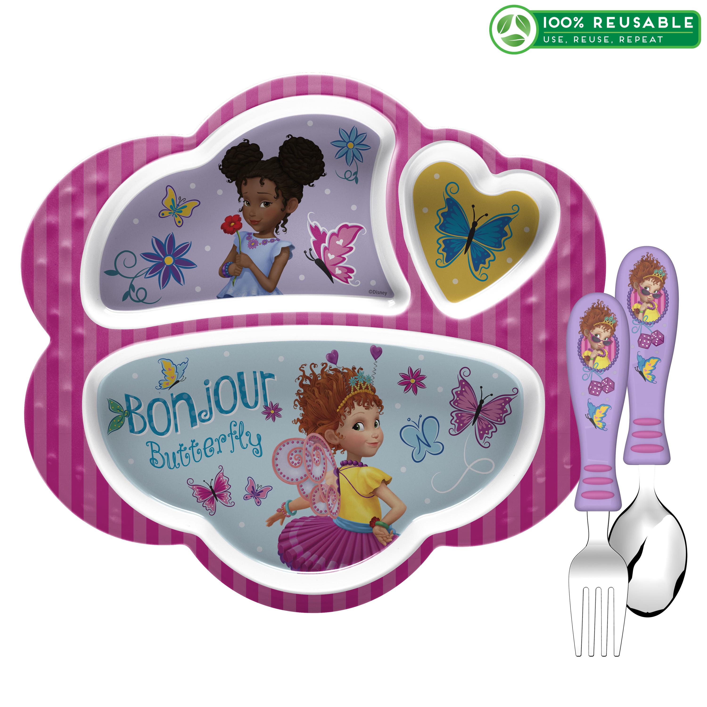 Disney Jr. Kid's Dinnerware Set, Fancy Nancy, 3-piece set slideshow image 1