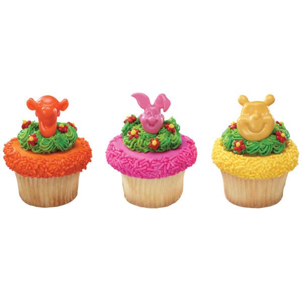 Winnie the Pooh Pooh, Tigger & Piglet Cupcake Rings