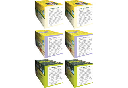 Ingredient panels  of Mixed Case of Probiotic Teas - 6 boxes