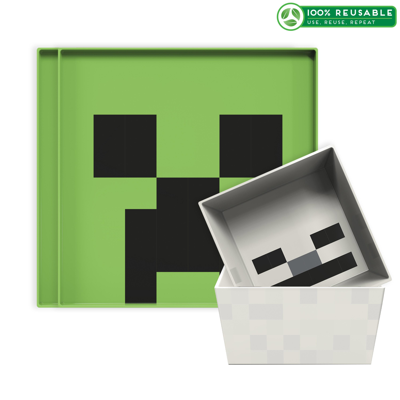 Minecraft Kids Dinnerware Set, Creeper and Ghost, 4-piece set slideshow image 1