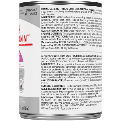 Royal Canin Canine Care Nutrition Comfort Care Canned Dog Food