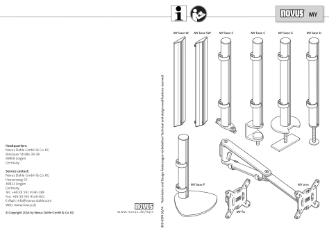 Novus MY Monitor Arms User Guide
