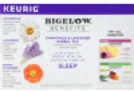 Bigelow Benefits Sleep Chamomile and Lavender Herbal Tea K-Cups Box for Keurig