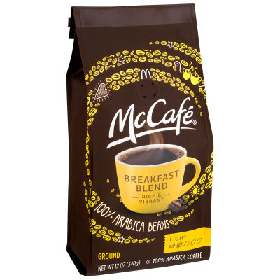 McCafe' Breakfast Blend Ground Coffee, 12 oz Canister