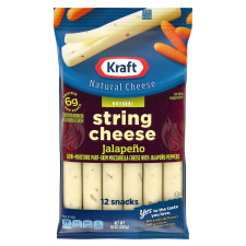 Kraft Jalapeno Low-Moisture Part-Skim String Cheese 12 count
