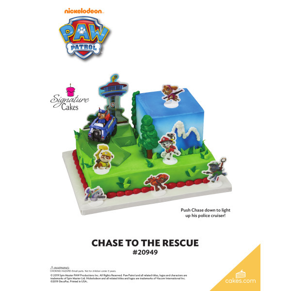 PAW Patrol™ Chase to the Rescue Signature DecoSet® The Magic of Cakes® Page
