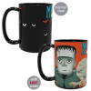 Little Monsters 15 ounce Coffee Mug and Spoon, Frankenstein and Friends slideshow image 2