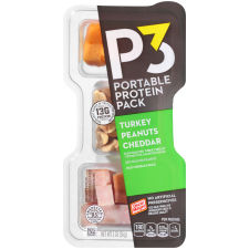 Oscar Mayer P3 Turkey, Cheddar & Peanuts Portable Protein Pack 2 oz Tray
