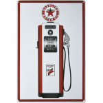 "Aluminum Texaco Gas Pump Sign, 12"" x 18"""