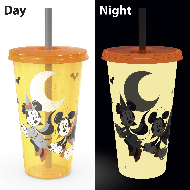 Disney 24 ounce Reusable Plastic Kids Tumbler, Mickey Mouse, 4-piece set slideshow image 6