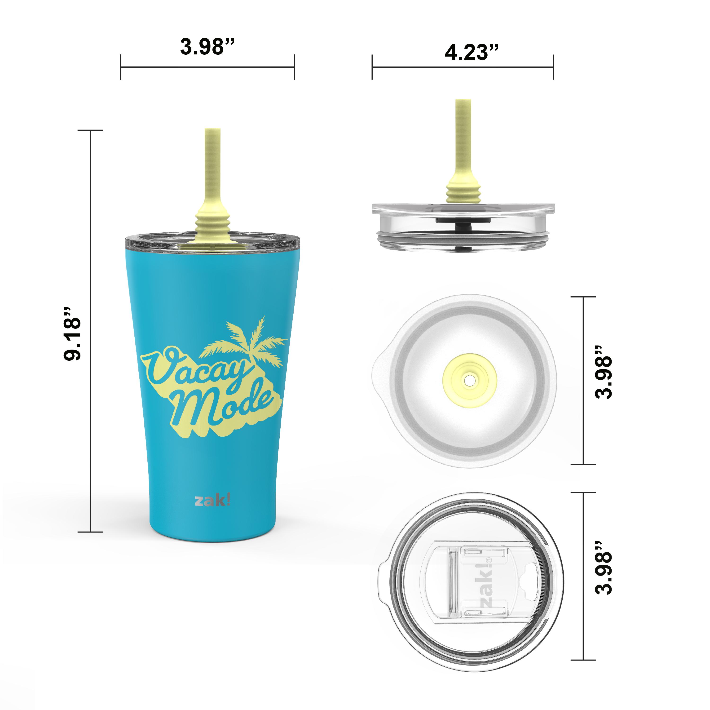 Alfalfa 20 ounce Insulated Tumbler, Blue slideshow image 5