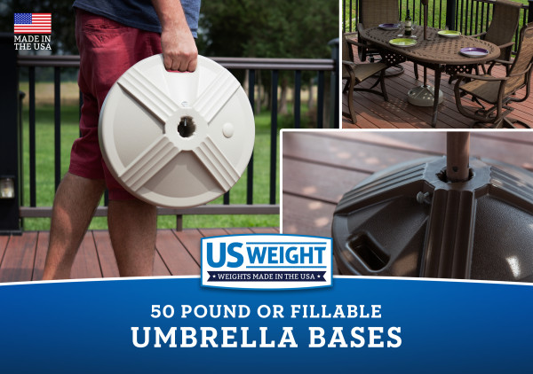 Empty Patio Table Umbrella Base - Grey 2