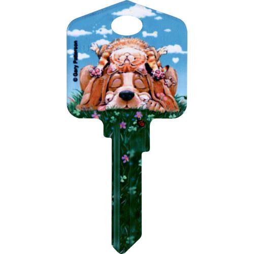 Paws & Claws - Lazy Day Dog & Cat Key Blank Kwikset 66/97 KW1/10