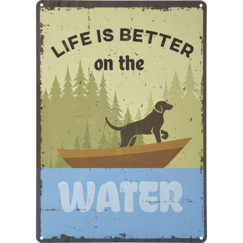 Life is Better on the Water Novelty Sign (10
