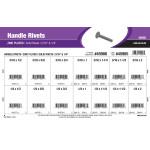 "Zinc-plated Handle Rivets Assortment (3/16"" & 1/4"" Diameters)"