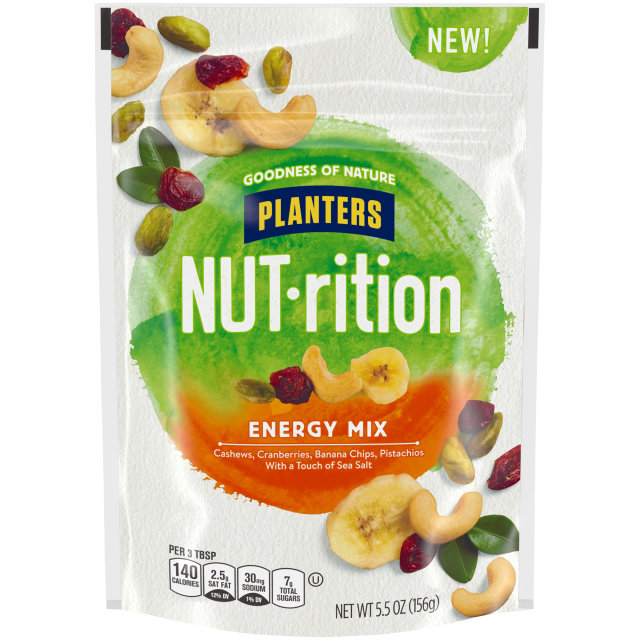 Planters Nutrition Snack Nut and Dried Fruit Mix Energy 5.5 oz Bag image