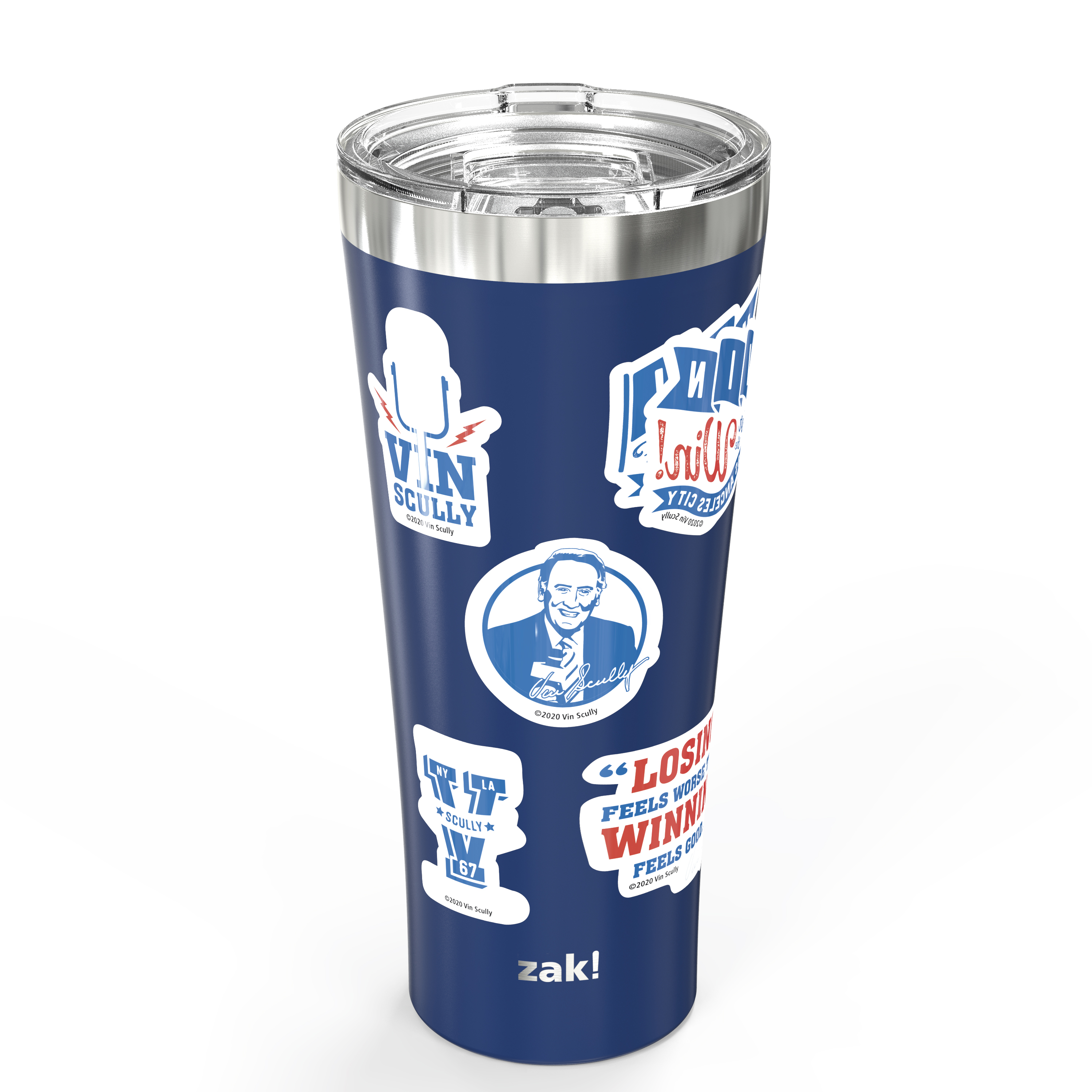 Zak Hydration 30 ounce Vacuum Insulated Stainless Steel Tumbler, Vin Scully, 2-piece set slideshow image 4