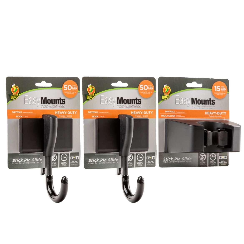 Duck® EasyMounts™ Heavy-Duty Drywall Garage Kit Image