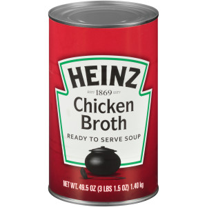 HEINZ Chicken Broth, 49.5 oz. Can, (Pack of 12) image