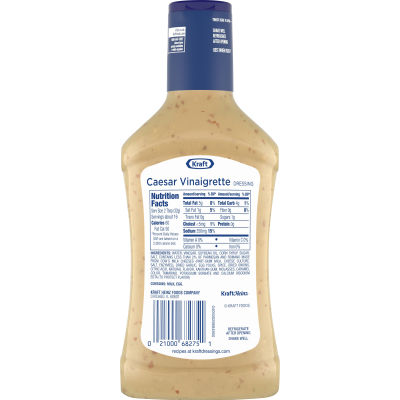 Kraft Caesar Vinaigrette Dressing with Parmesan, 16 fl oz Bottle